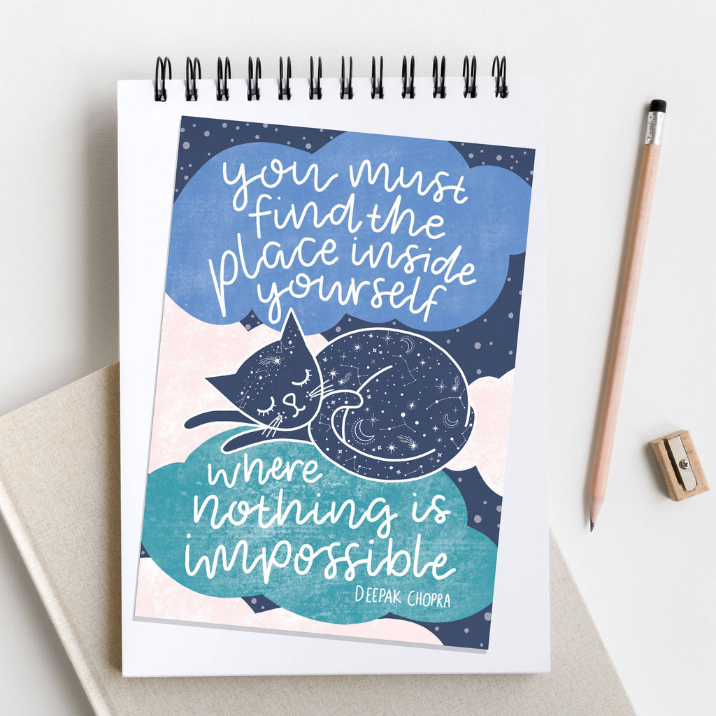 Quote Cat A6 Postcard - Cute Cats Collection