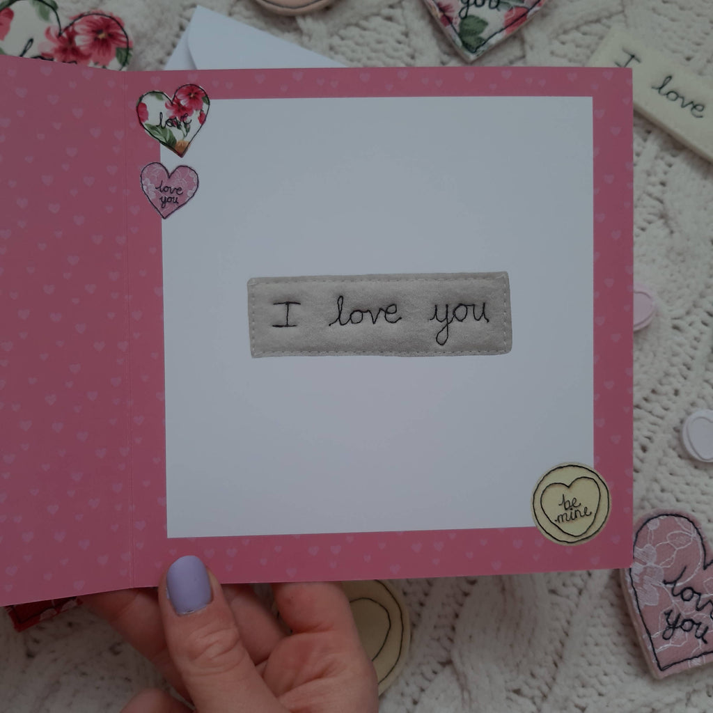 OX Love Heart I Love You Card, Noughts and Crosses Valentine's Card, 14.8cm