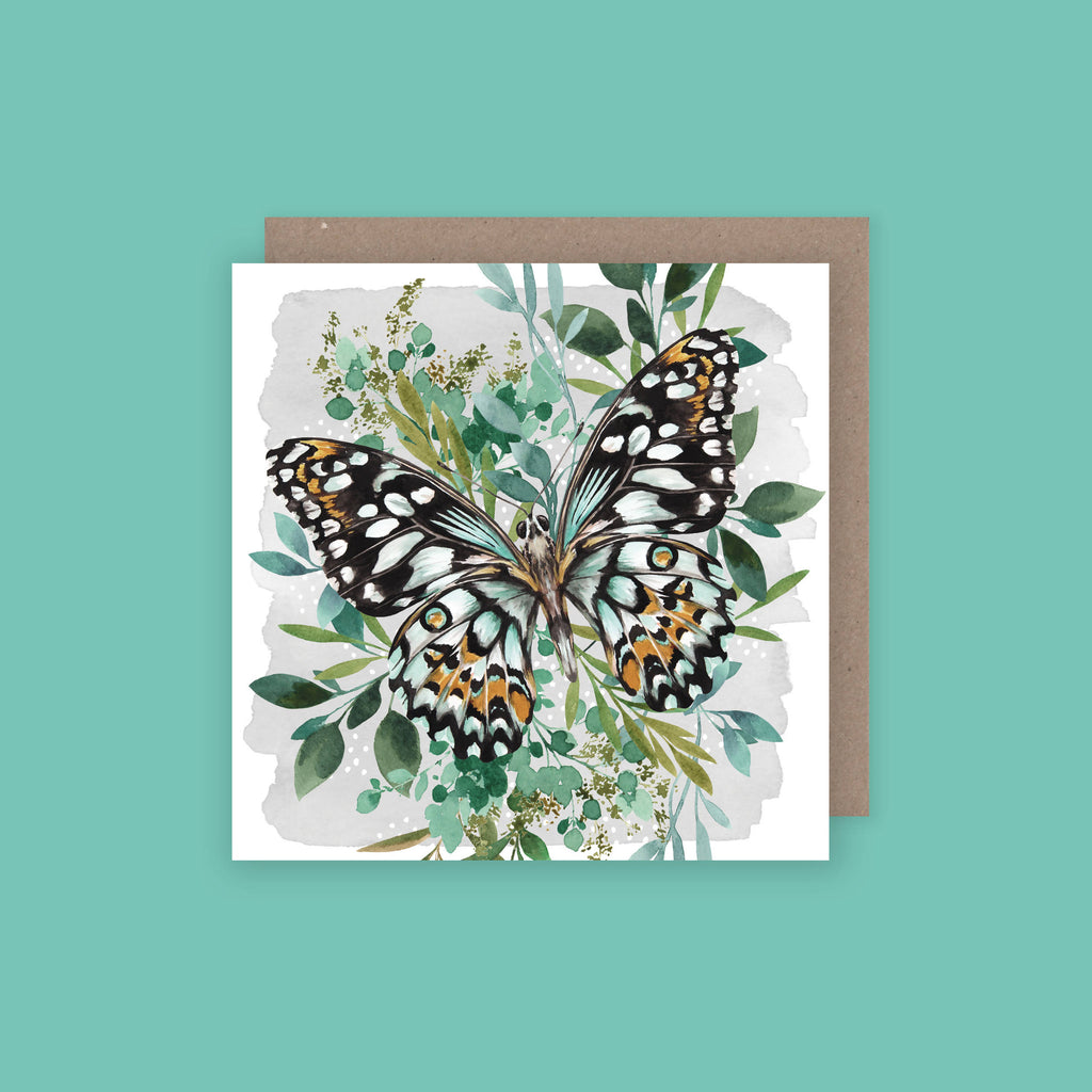 Botanical Butterfly Greetings Card