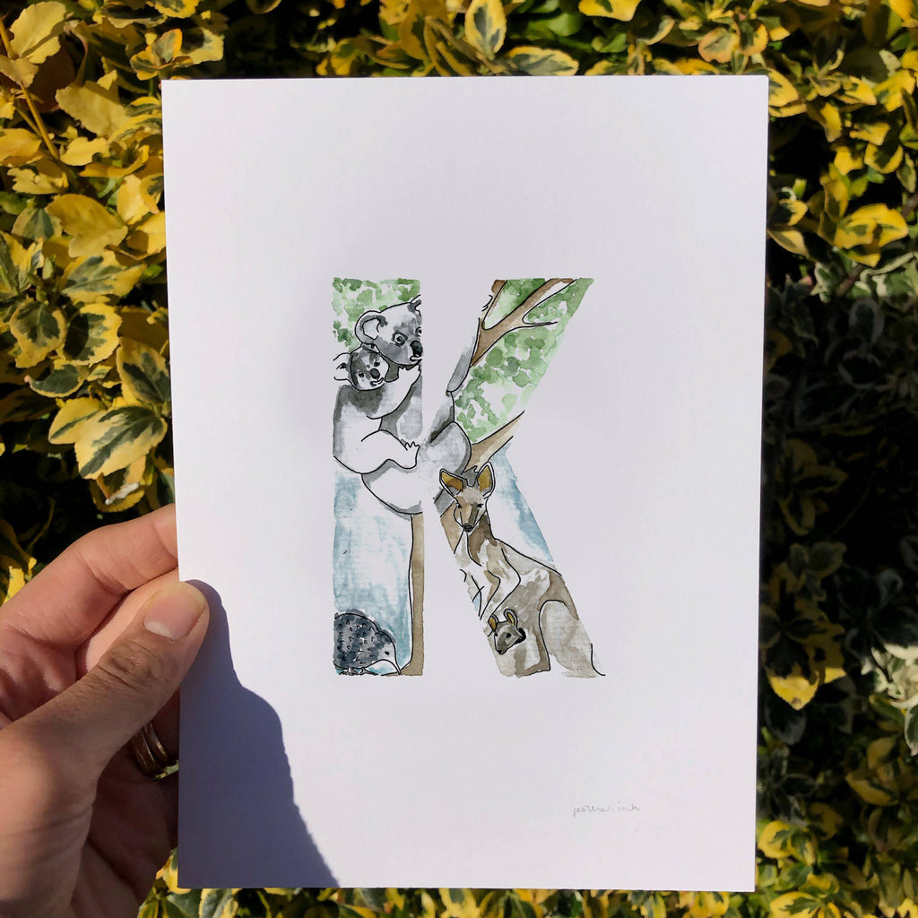 Animal alphabet initial. Letters I-L