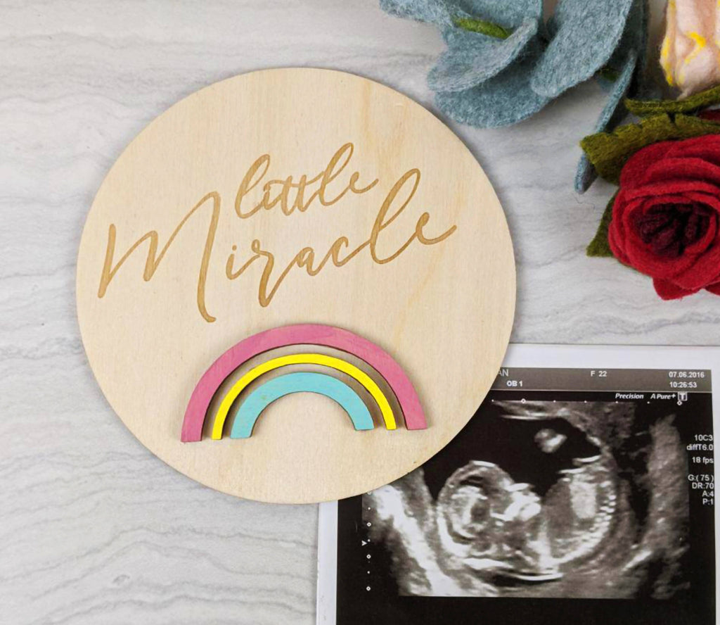 Rainbow baby newborn photo prop, little miracle baby