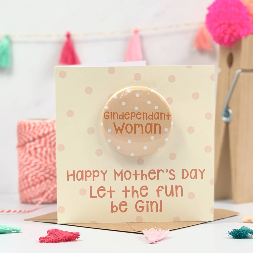 Gindependant Woman Happy Mother's Day Card