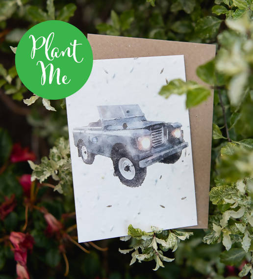 Plantable Land Rover Series 2A Greeting Card