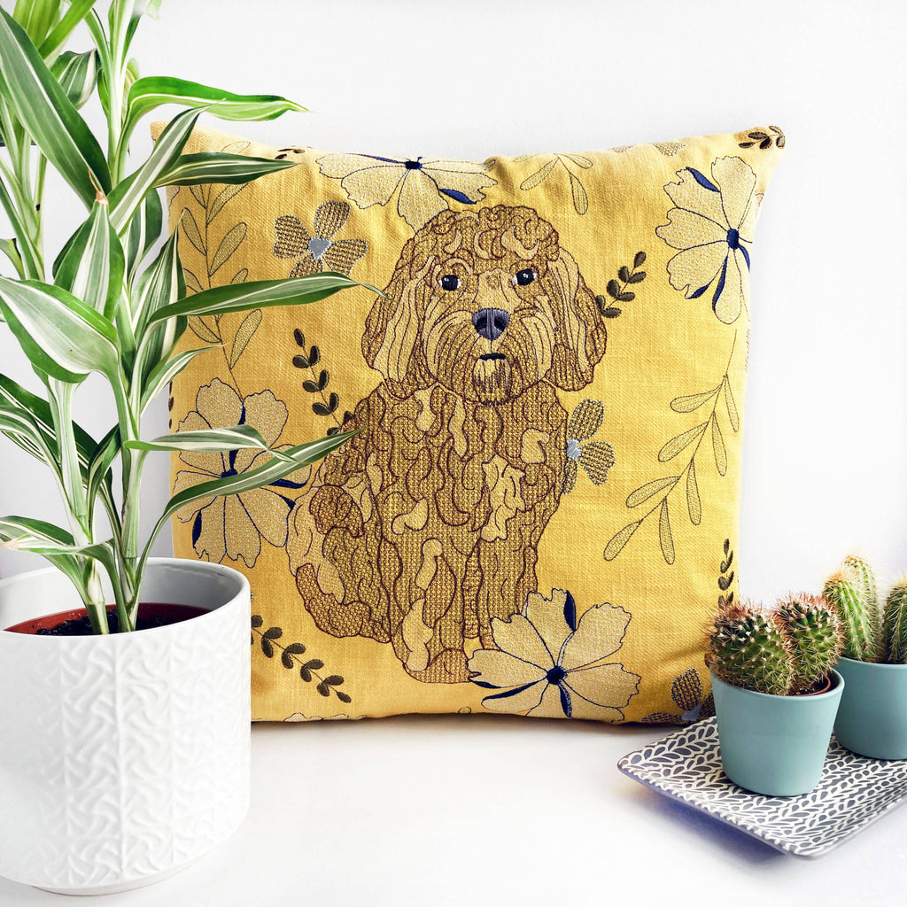 Cockapoo Embroidered Cushion - Limited Edition