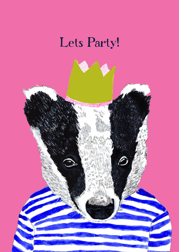Mr Badger Birthday Card