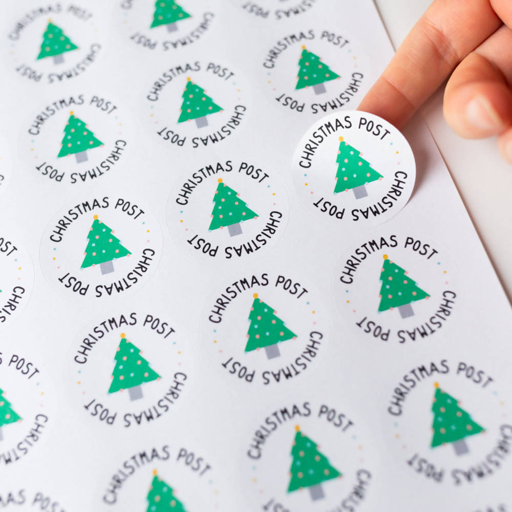 35x Christmas Post Stickers, Eco Friendly