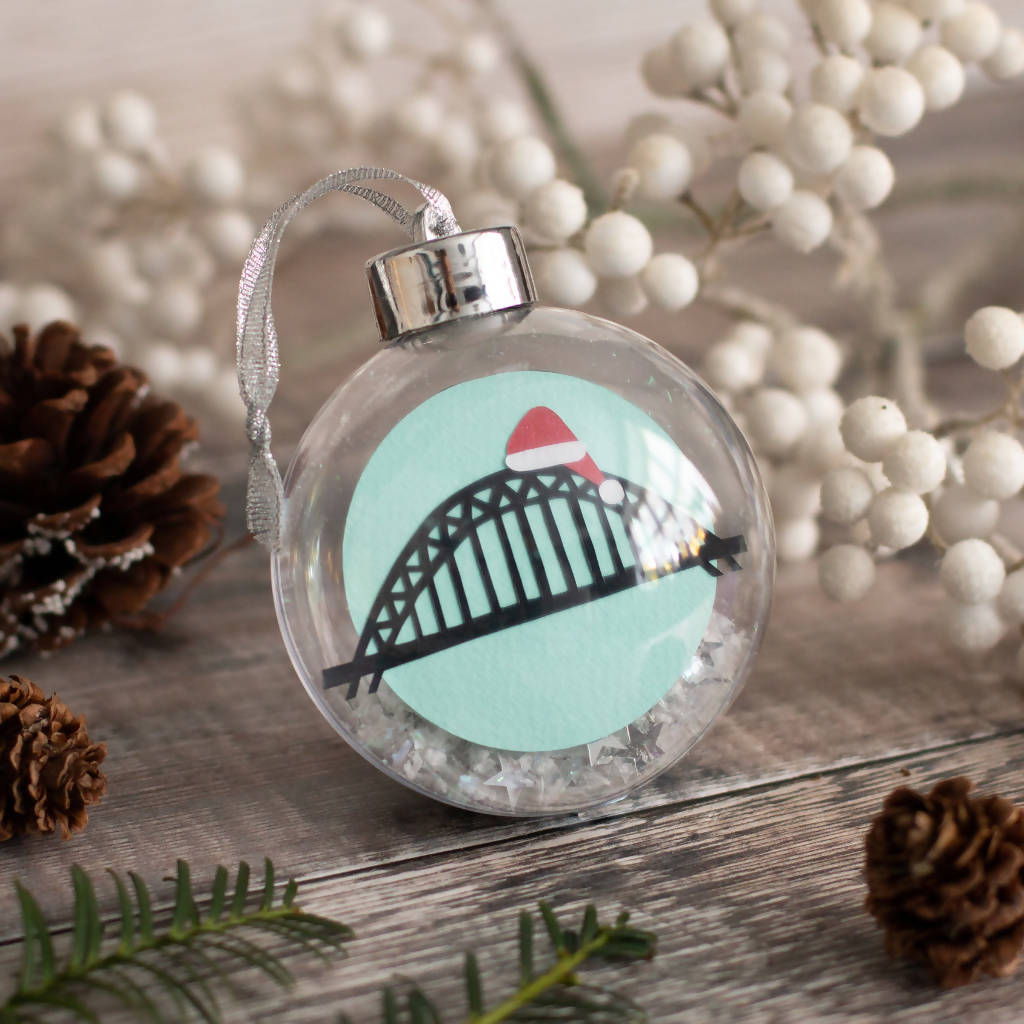 Tyne Bridge Paper Cut Christmas Bauble