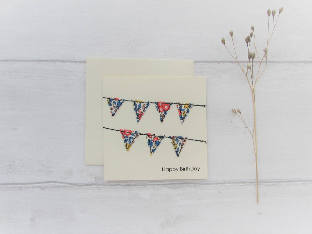 Stitched Bunting Greetings Card