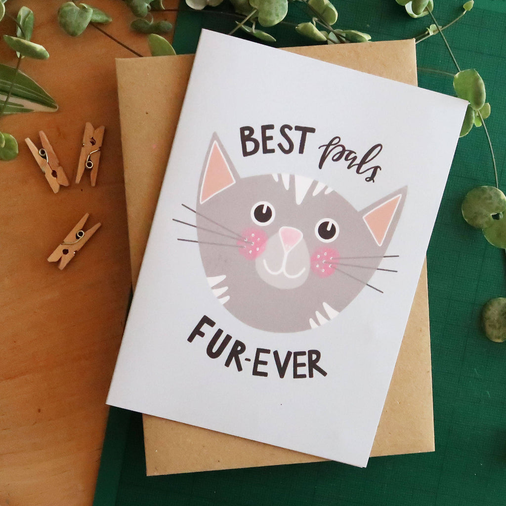 Best Pals Fur-ever A6 Cat Card - Cute Cats Collection