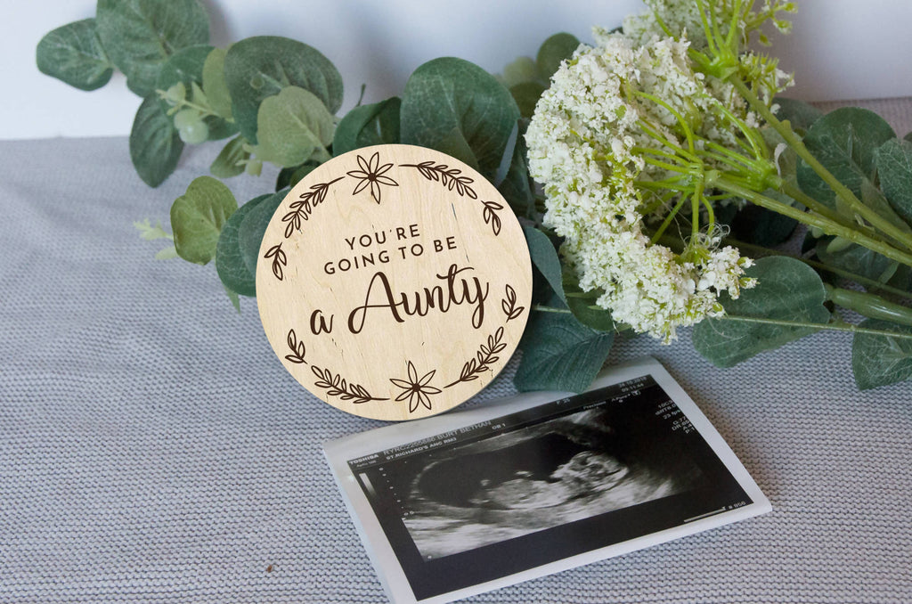 Aunty Baby announcement gift, pregnancy announcement gift