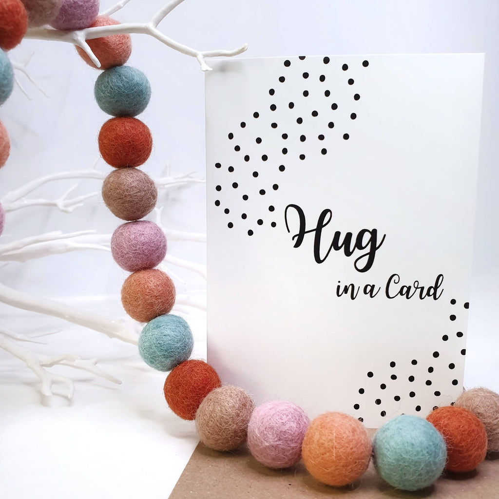 Hug in a Card - A6 Monochrome Typo Greeting Card