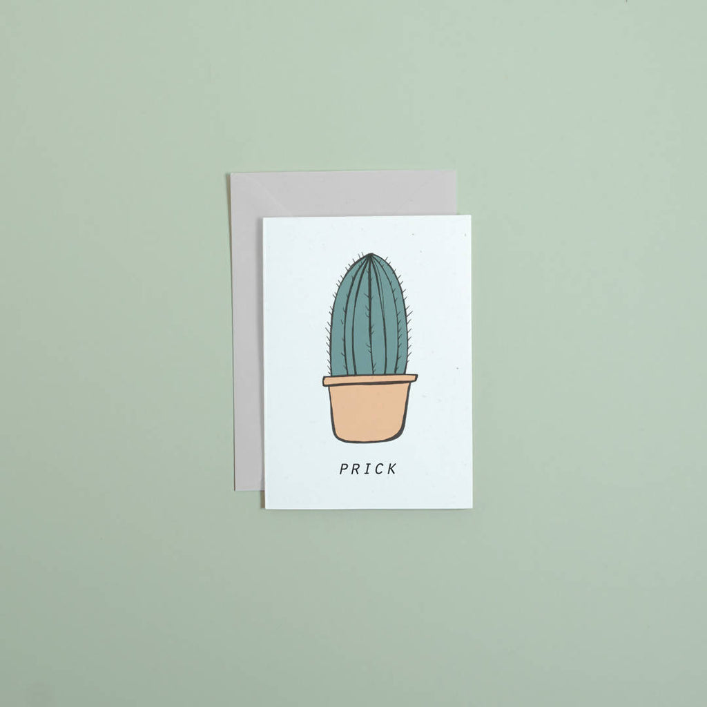 Prick // greetings card // stationery // cactus greetings card // handmade stationery // illustrated card // unique greetings card