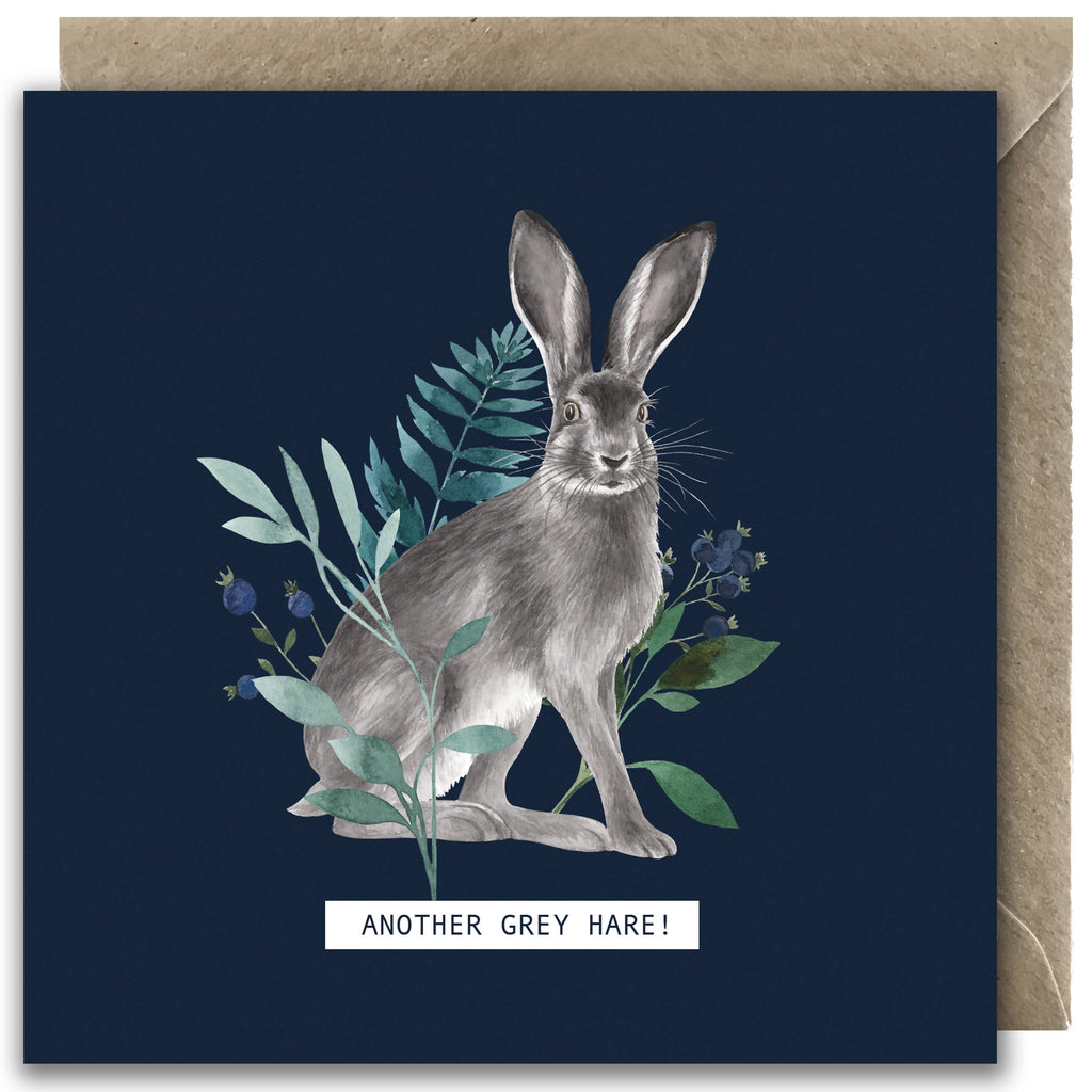 'Another Grey Hare!' Greetings Card