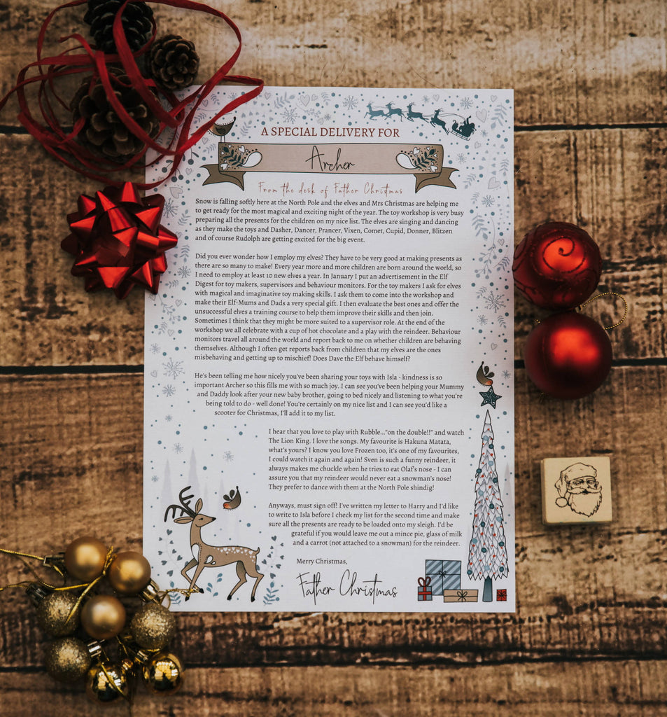 Baby's First Personalised Christmas Letter from Father Christmas