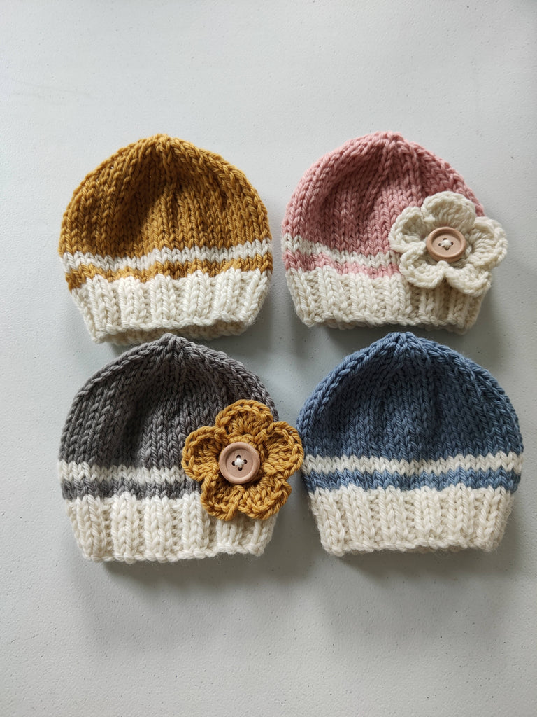 British Wool Baby Hats