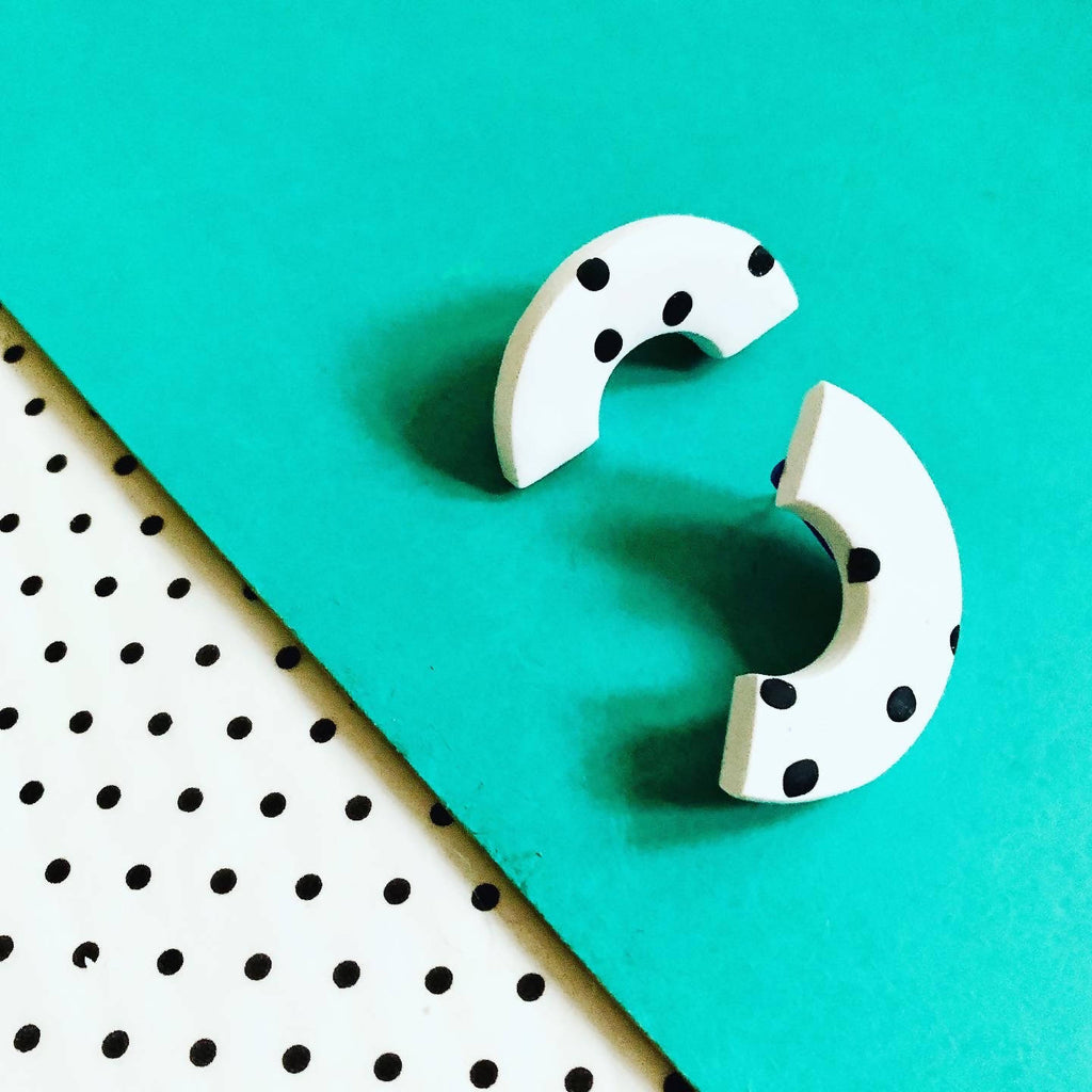 Pattern polymer clay studs