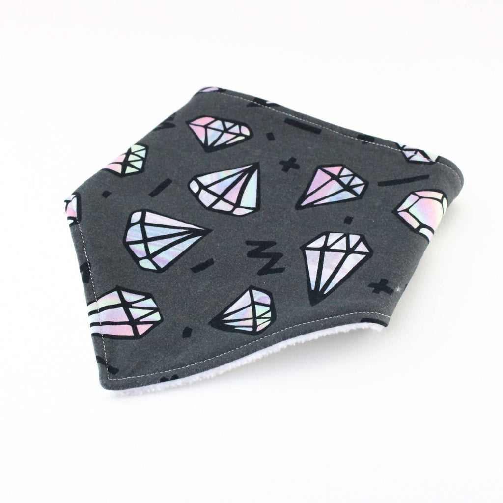 Oil slick diamonds bib