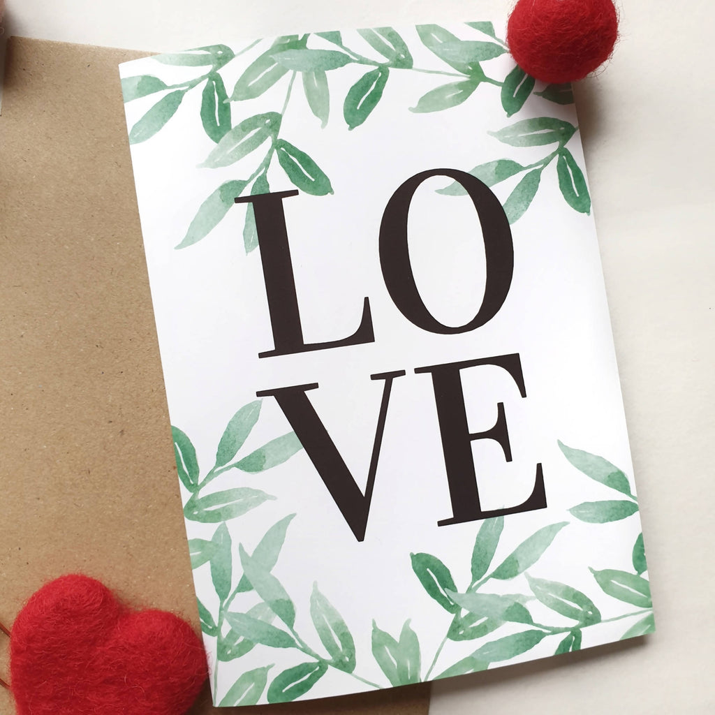 Love - A6 Botanical Watercolour Greeting Card