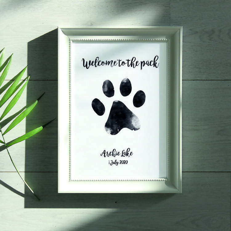 Welcome to the pack - New baby/pet print