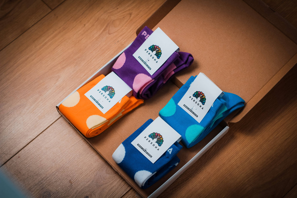 "Our ""Colouful Combo"" sock gift box"
