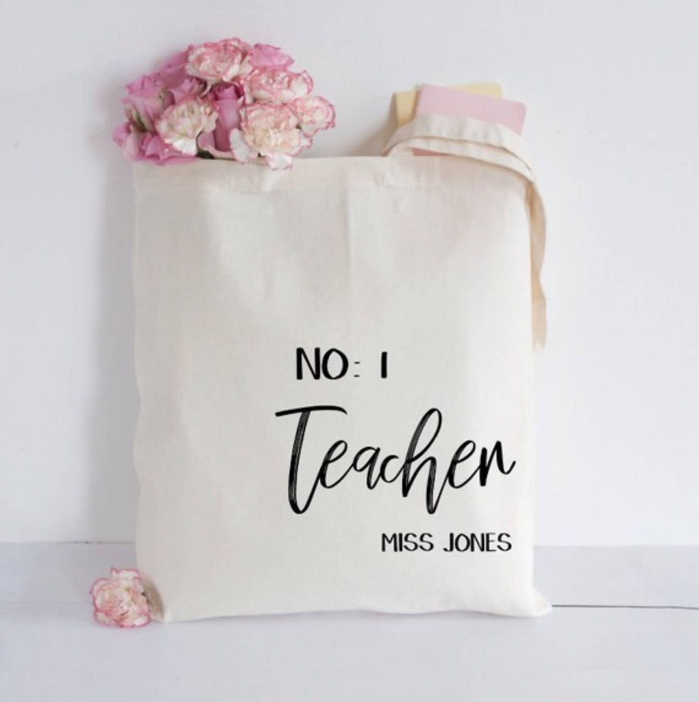 Personalised Teacher Tote bag