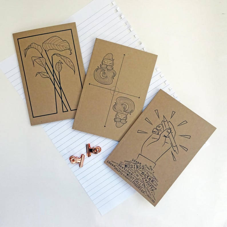 Pack Of 3 Notebooks