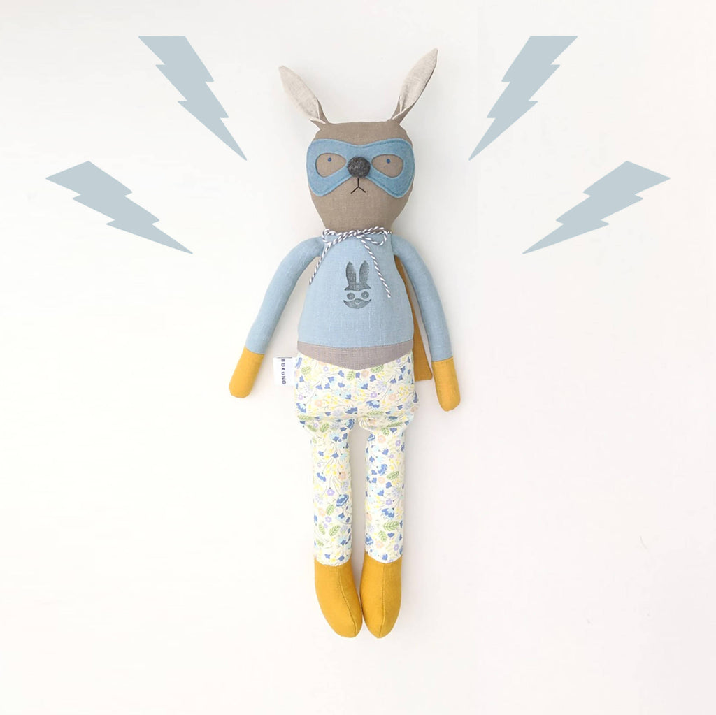 Super hero bunny doll