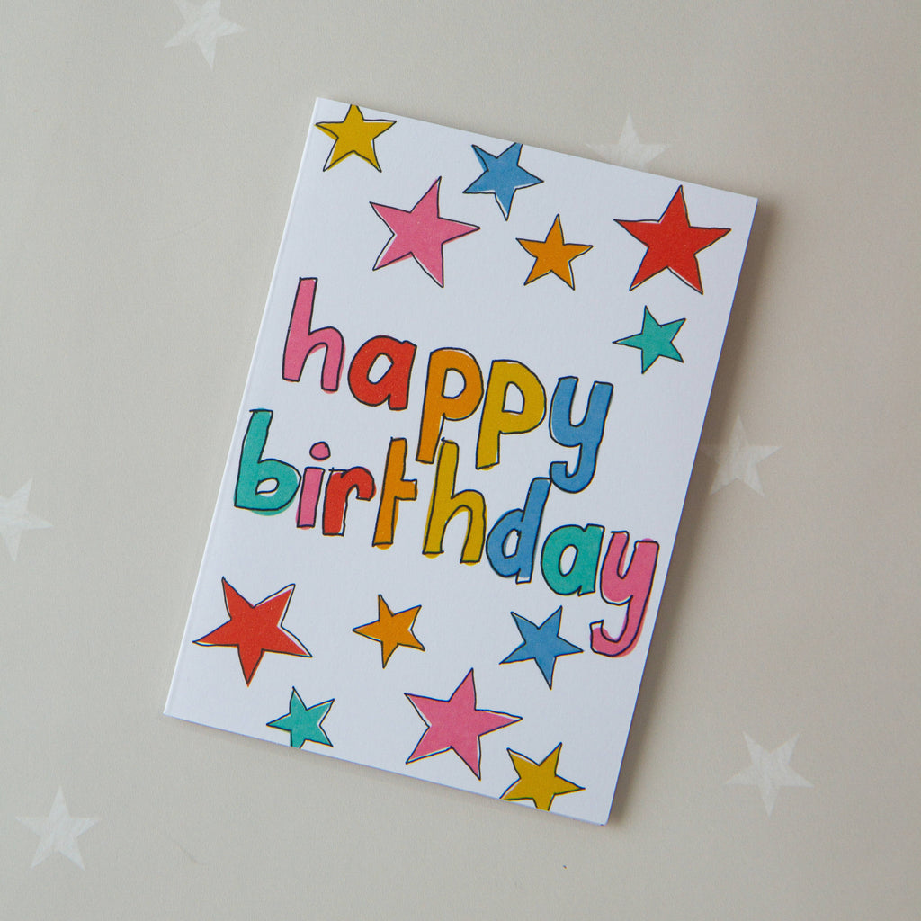 Kids - star lines birthday card