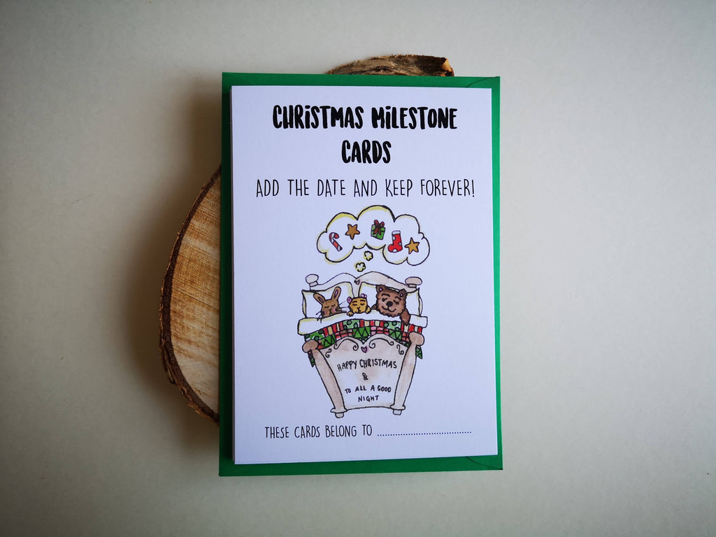 Baby's First Christmas Milestone Card Pack