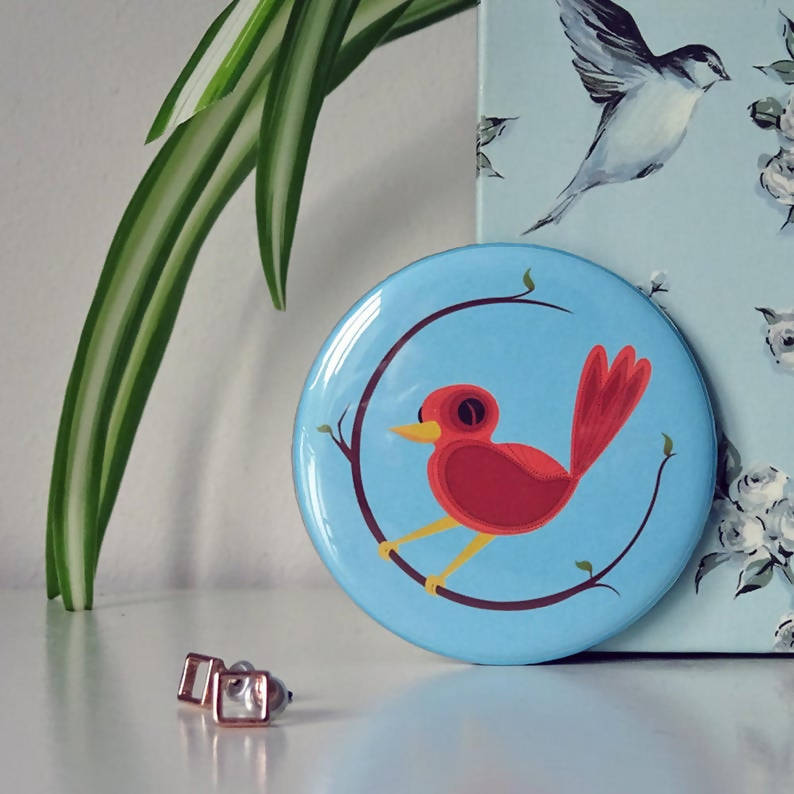 Bird Compact Pocket Mirror