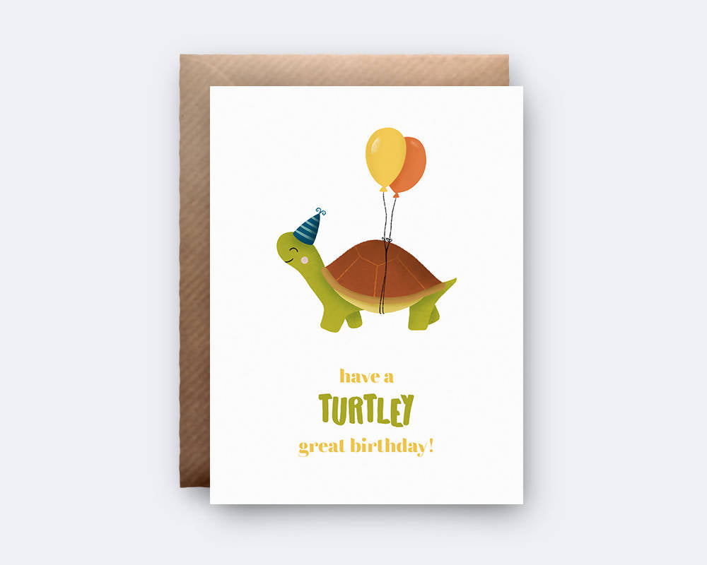 'Have a Turtley Great Birthday!' Greeting Card