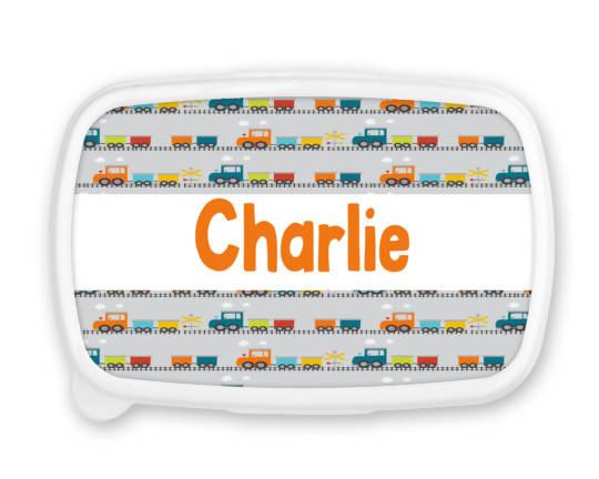 Personalised Train Snack/Sandwich Box