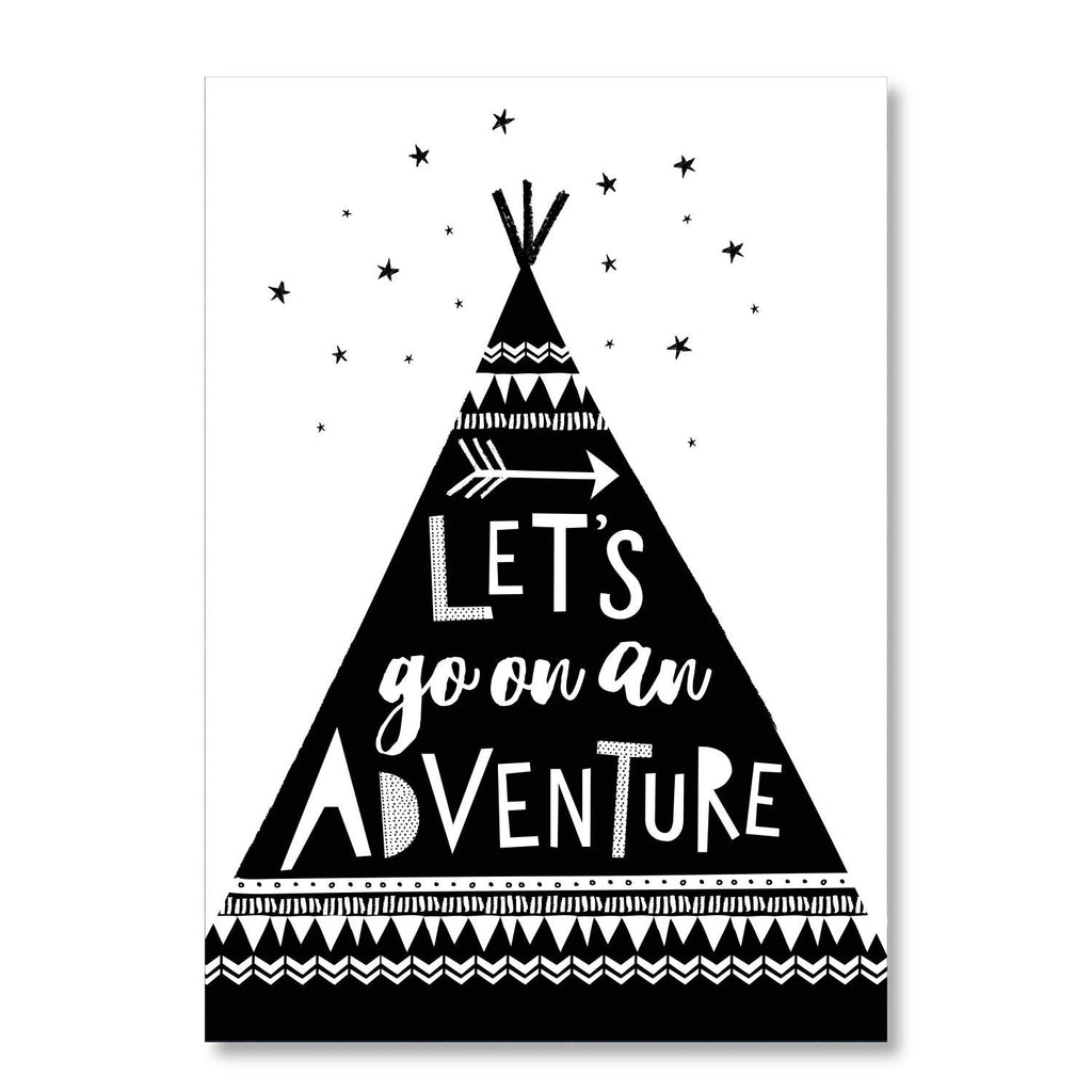 Let's Go On An Adventure - Wall Art - Nursery Print - Children's Print - Inspirational Print