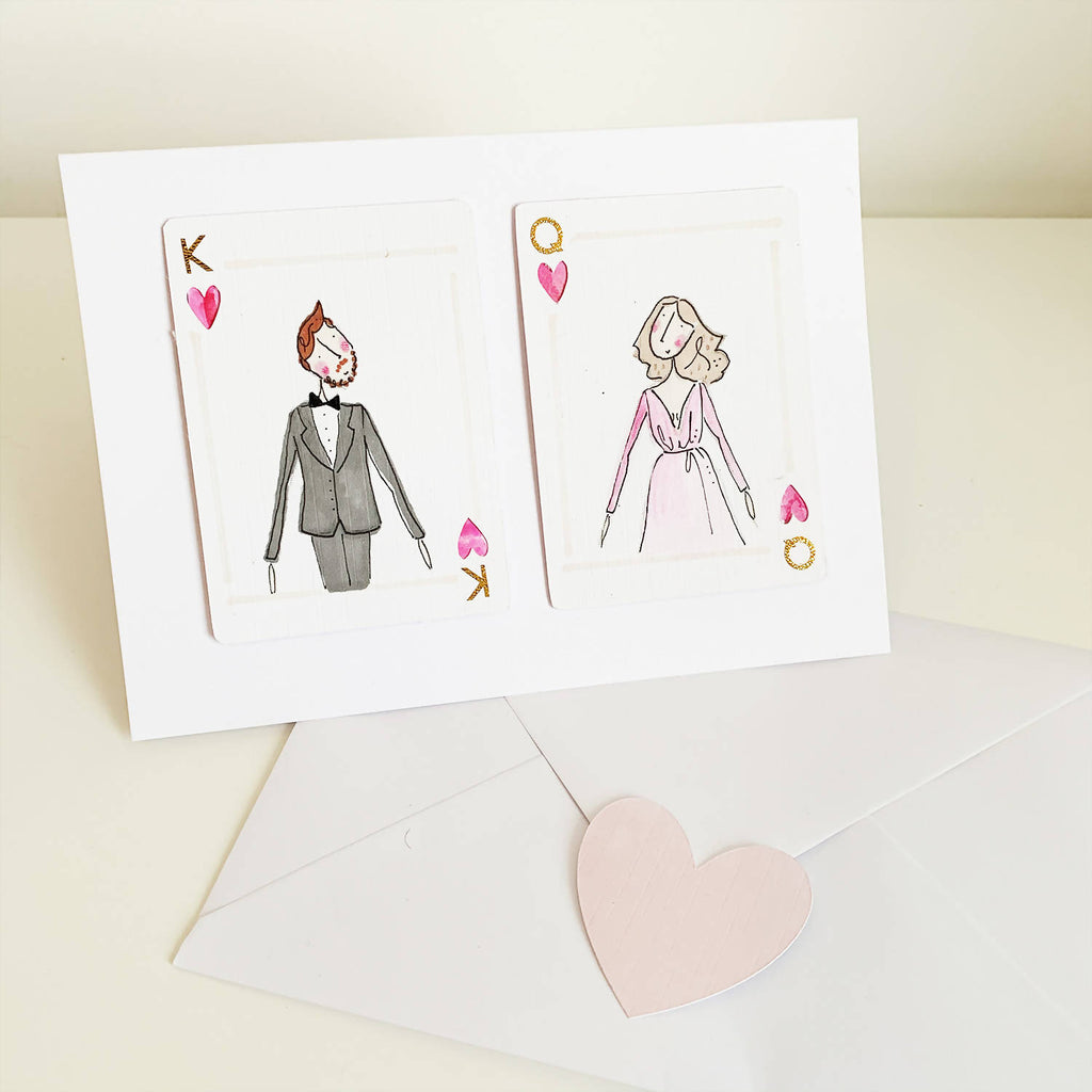 Queen of my heart - romantic personalised valentine card