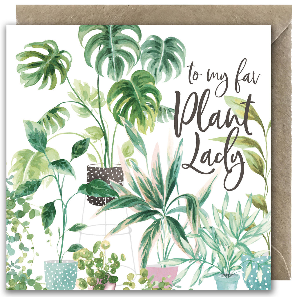 Plant Lady Greetings Card