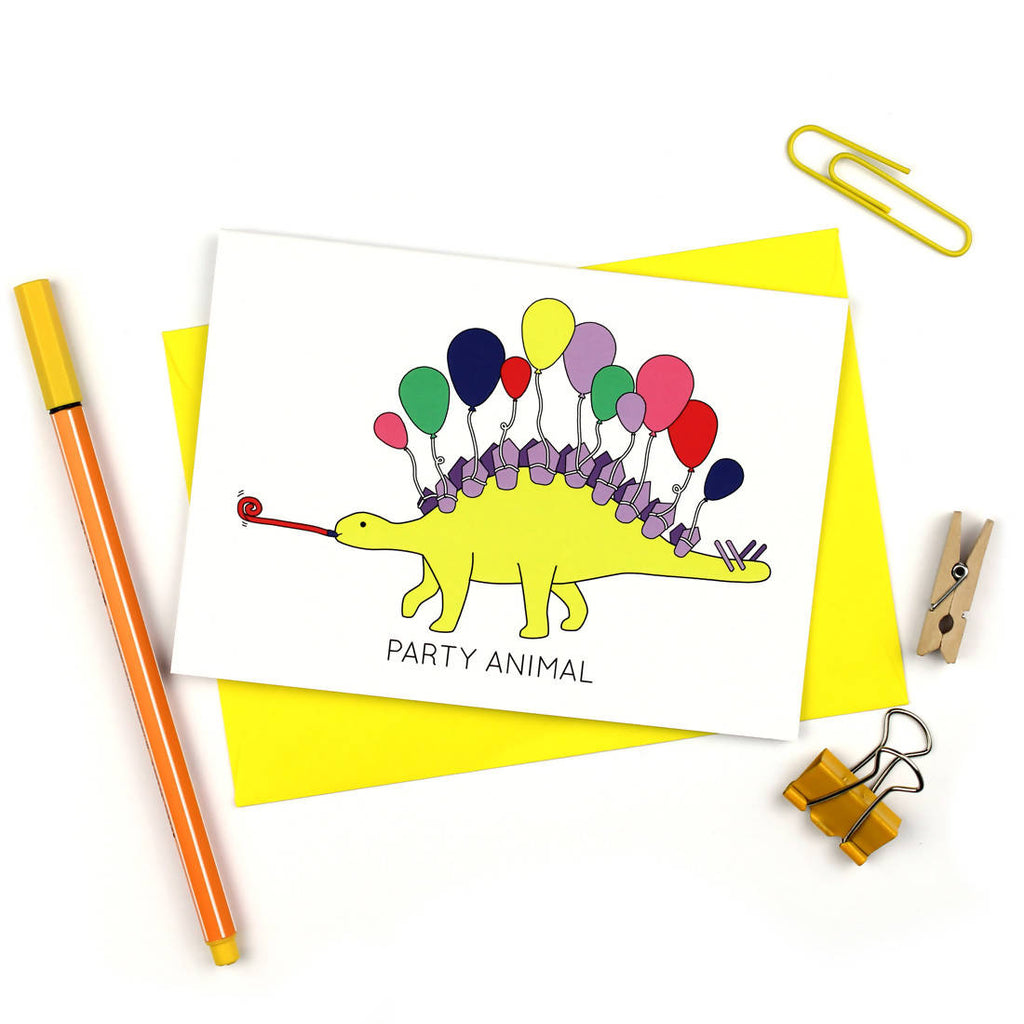 Party Animal Dinosaur Greeting Card