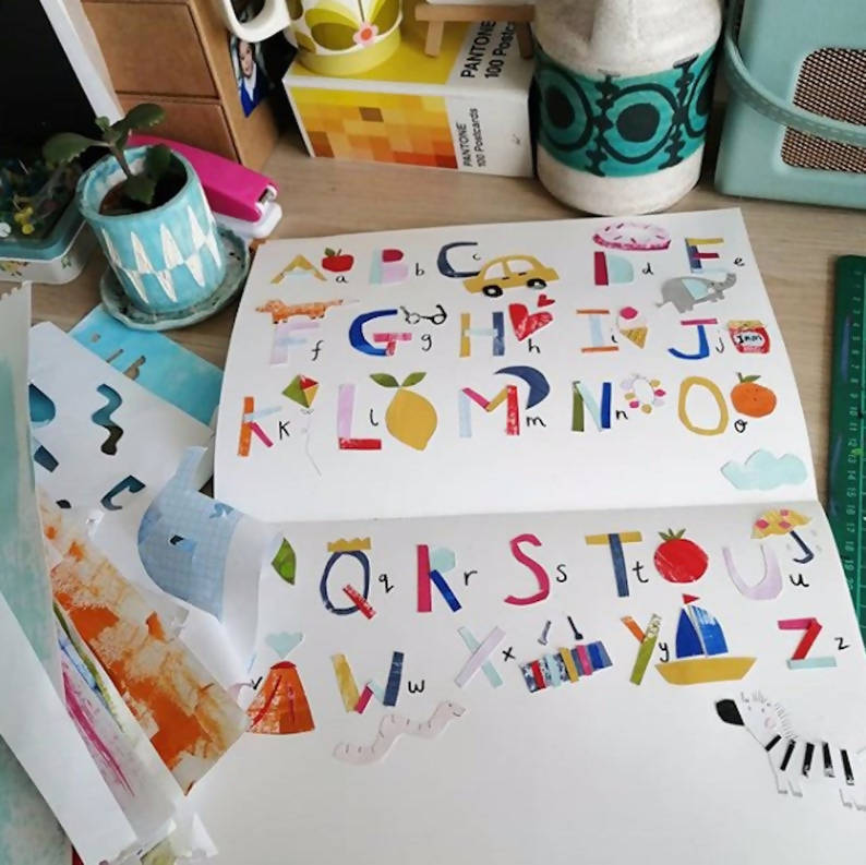 A3 Alphabet Poster, Nursery Poster, Kids Poster, A to Z poster, Dolly Pepper Studio
