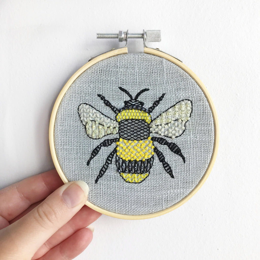 Bumble Bee Embroidery Craft Kit