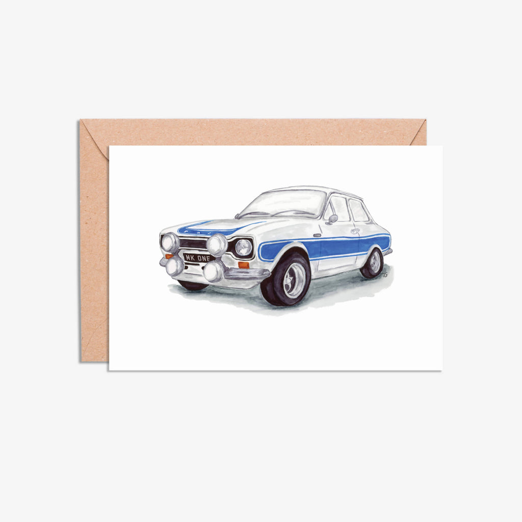 Classic Car Illustration Blank Card Packs