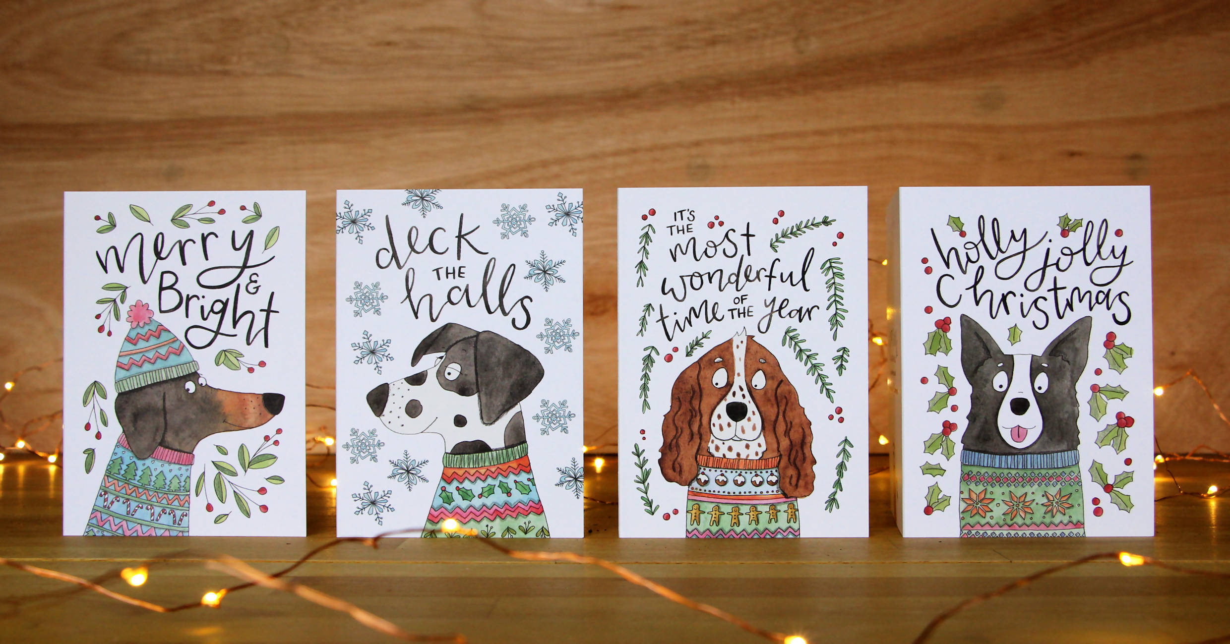 Pack of 8 Dog Christmas Cards