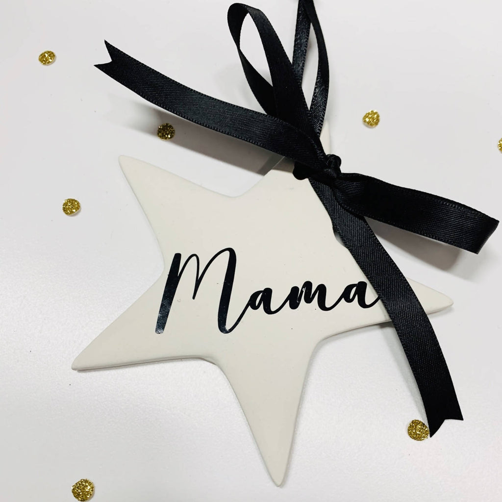 Personalised Ceramic Star Christmas Bauble