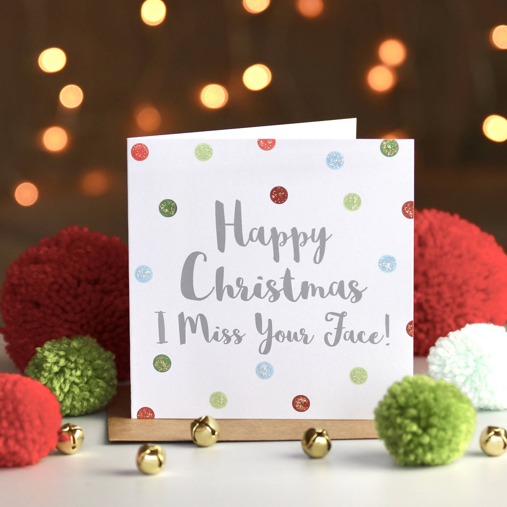 Miss Your Face Christmas Card