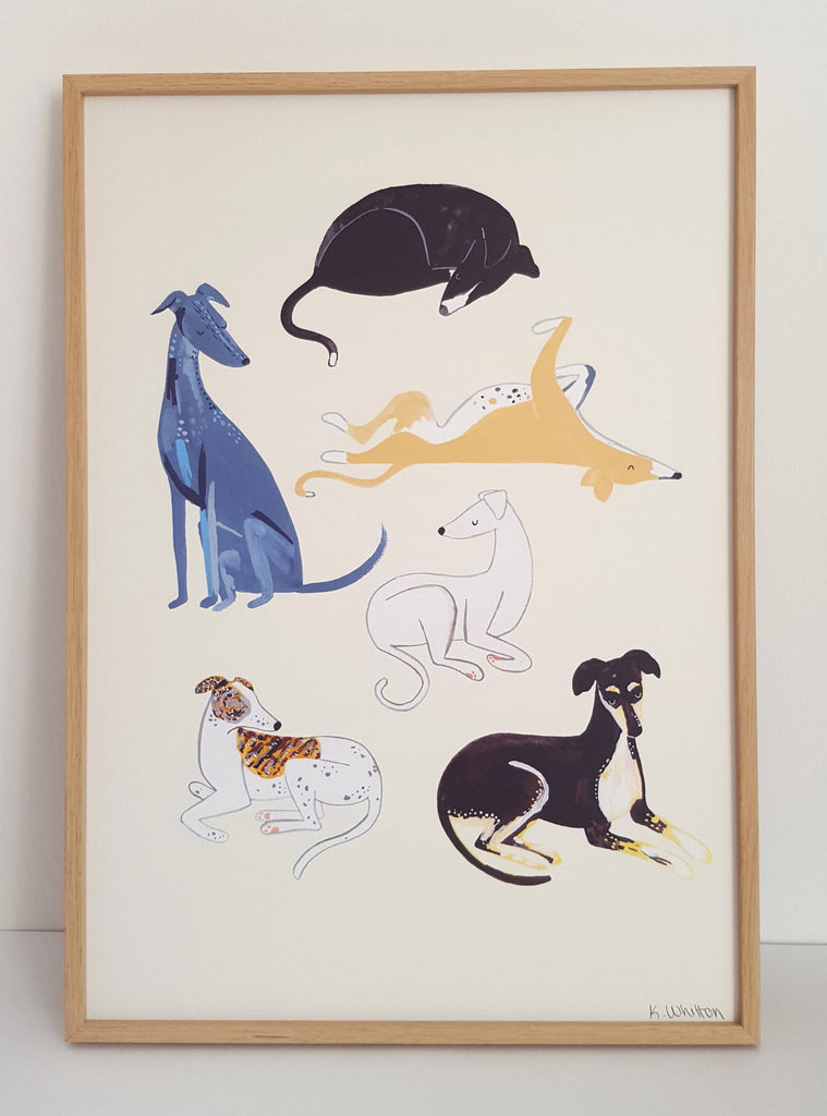 Sighthound A3 Print