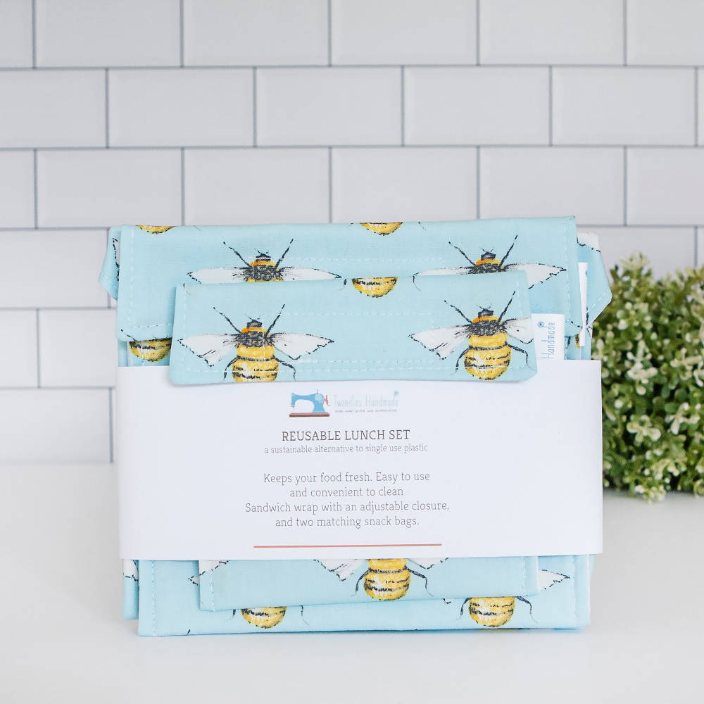 Bumble Bee Reusable Lunch Set