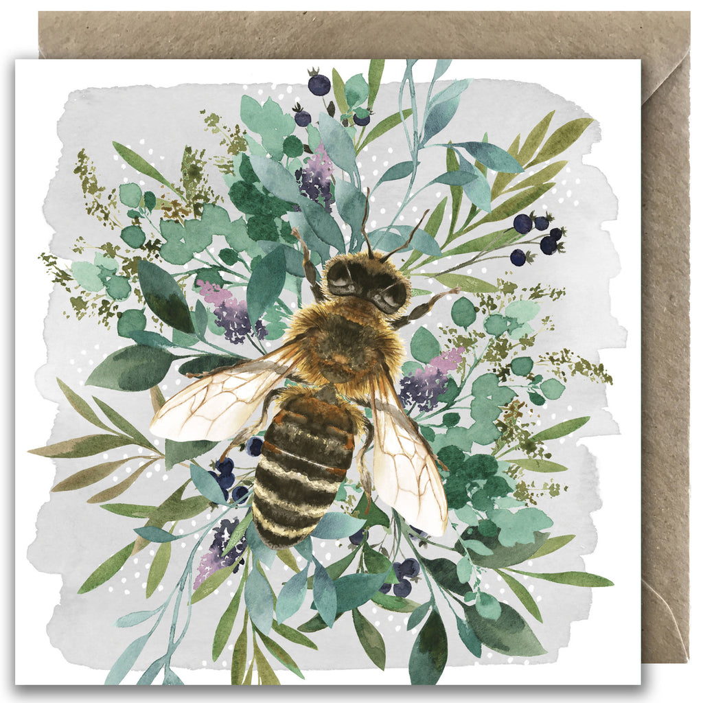 Botanical Bee Greetings Card