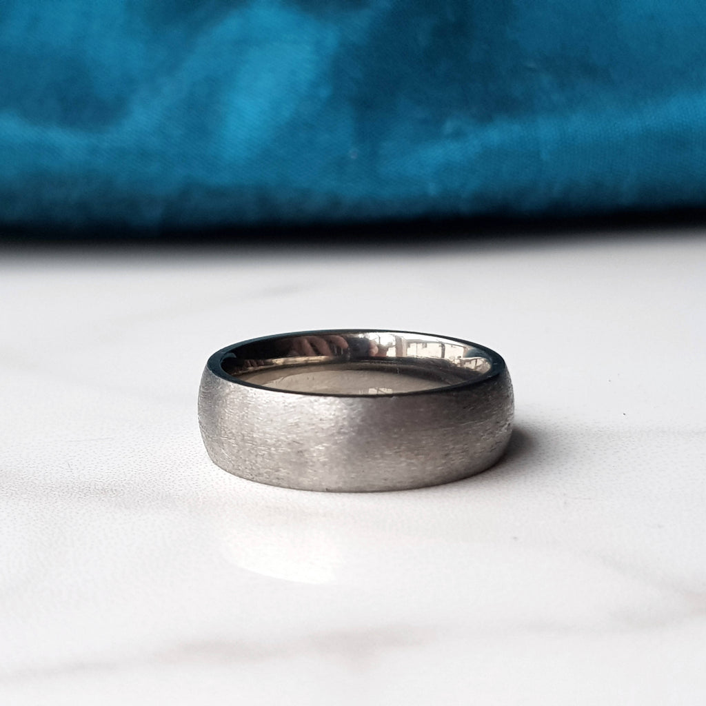 Textured Titanium Ring - Plain or Engraved