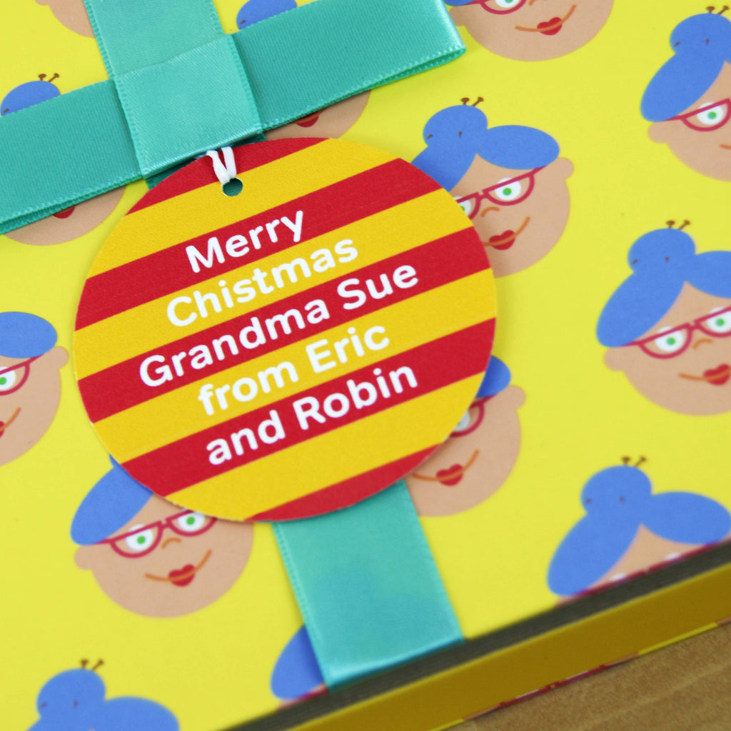 Grandma Gift Book With Socks & Personalised Tag Present For Her
