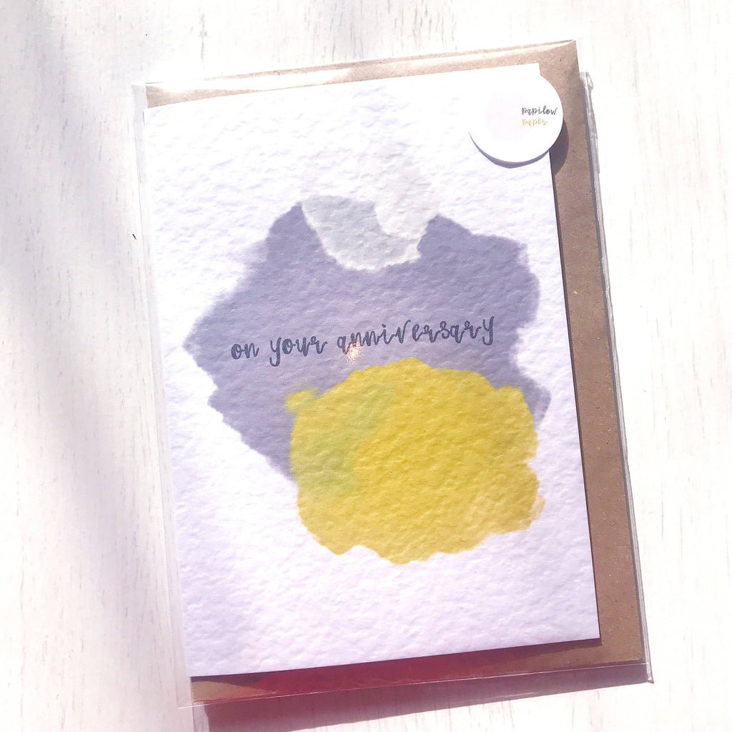 On your Anniversary Watercolour Card