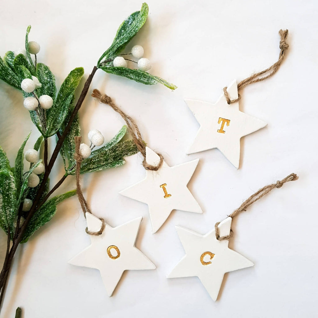 Christmas initial stars