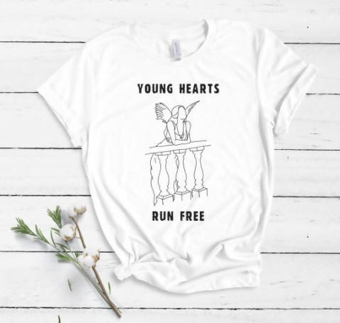 Romeo & Juliet Young Hearts Tee Romeo & Juliet Inspired 'Young Hearts Run Free' Iconic Movie T-Shirt